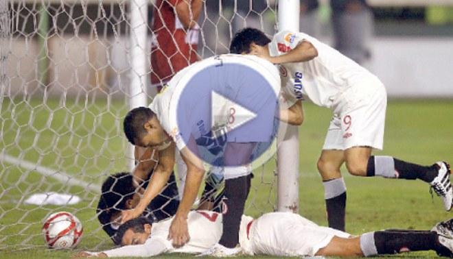 "Se alejan de la Libertadores: La ""U"" empató 1-1 con Inti Gas"