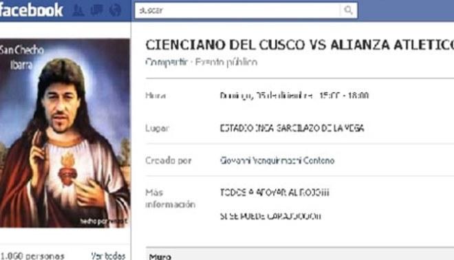"""Los hinchas de Cienciano piden que """"San Checho"""" los salve del descenso"""