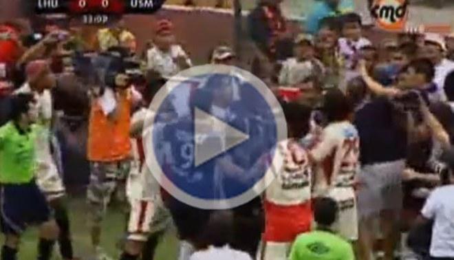 ¡Qué tal bronca!: Jugadores del León y de la San Martín se agarraron a golpes