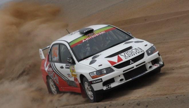 Nicolás Fuchs está sétimo en el Rally de Portugal