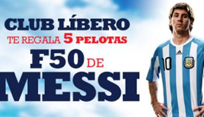 Club Líbero te regala pelotas Adidas de Lionel Messi
