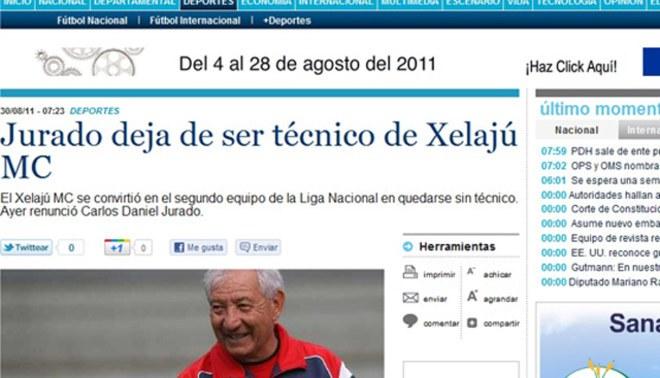 Carlos Daniel Jurado renunció al Xelajú de Guatemala y llegaría al Cusco este fin de semana