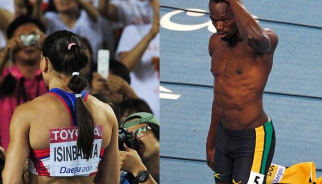 Usain Bolt y Yelena Isinbayeva: Las decepciones de mundial de atletismo