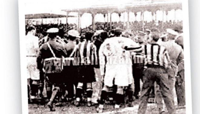 El primer clásico se jugó a los bastonazos en 1928