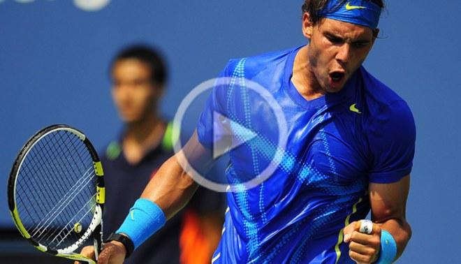 A octavos: Rafael Nadal venció a David Nalbandian en el US Open