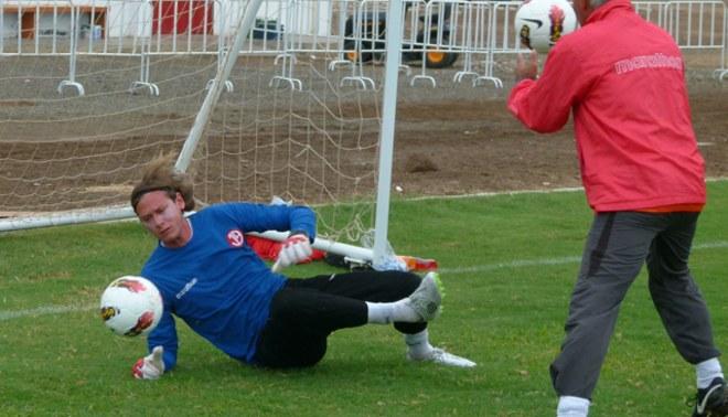 Arqueros del Aurich empezaron a entrenar con balón oficial de la Libertadores 2012