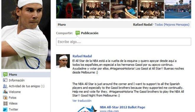 Salió su corazoncito: Rafael Nadal quiere ver a los españoles en el Juego de las Estrellas de la NBA
