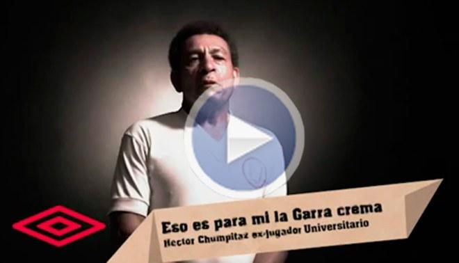 Lo explica en spot: ¿Qué es la garra crema para Héctor Chumpitaz?
