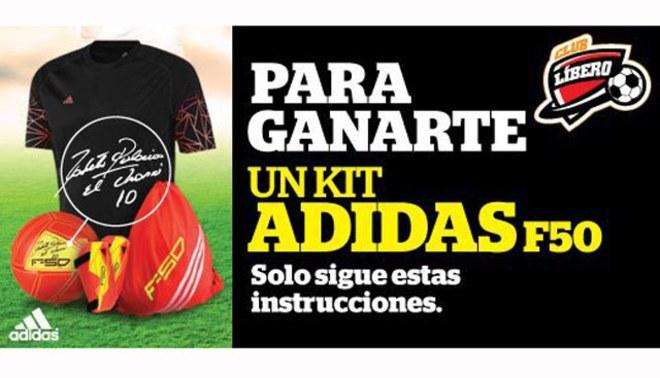 Gana el kit de Adidas F50 con el autógrafo de Roberto Palacios