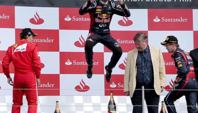 Mark Webber logra la victoria en el Gran Premio de Gran Bretaña