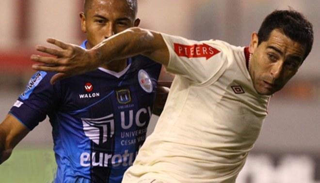 Con pena máxima: Miguel Ximénez marcó su gol número doce, pero se quejó que no le cobraron un penal