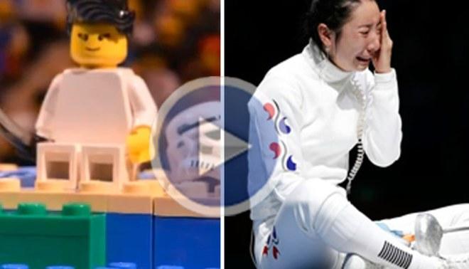 Esgrimista Shin Lam, quien rompió en llanto por un reclamo en los Juegos Olímpicos, fue parodiada por Lego [VIDEO]