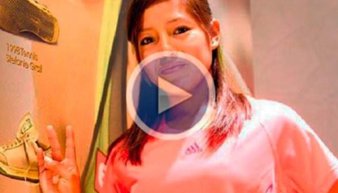 Inés Melchor volvió de Londres tras vencer record sudamericano