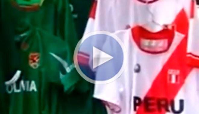 Camisetas de la selección peruana se venden como pan caliente en el Hernando Siles [VIDEO]