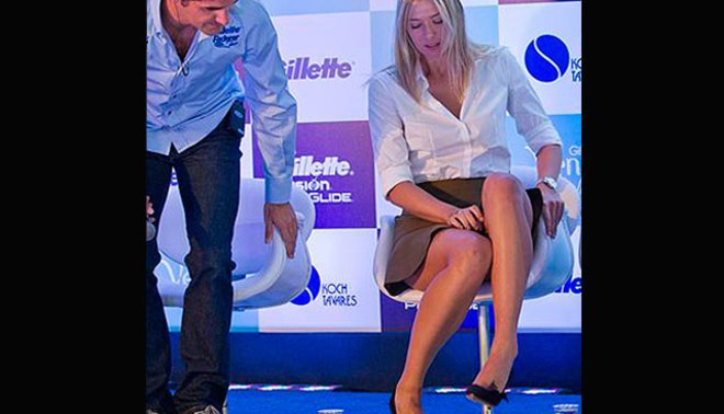 Roger Federer fue 'ampayado' cuando miraba piernazas de María Sharapova