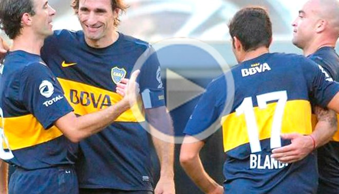 En despedida de Rolando Schiavi, Boca Juniors venció 2-1 a Godoy Cruz [VIDEO]
