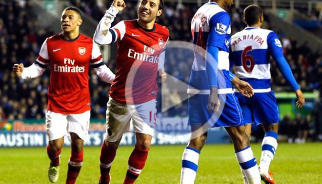 El Arsenal goleó 5-2 al Reading con tres goles de Santiago Cazorla [VIDEO]