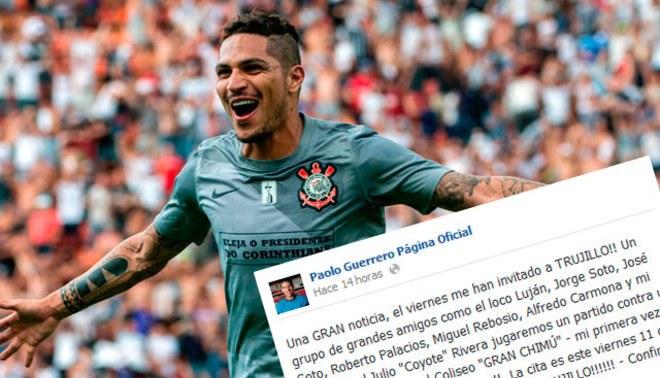 """¡Atención Trujillo! Paolo Guerrero jugará este viernes 'fútbol 6' en el """"Gran Chimú"""""""