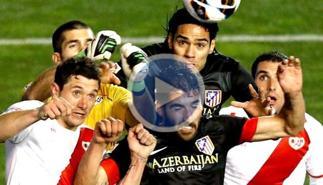 Atlético de Madrid perdió 2-1 con el Rayo Vallecano en condición de visitante [VIDEO]