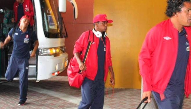 Perú ya se encuentra en Panamá para amistoso