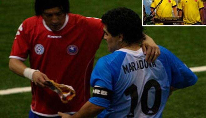 Las FARC invitan a Maradona, Zamorano y otros futbolistas a sumarse a un partido por la paz