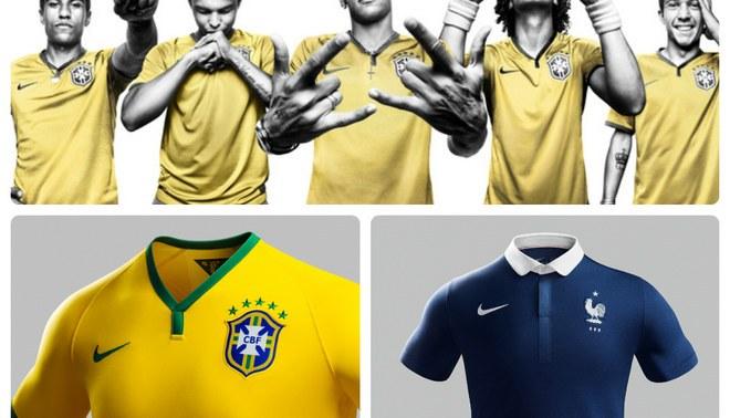 Salen a la venta los nuevos uniformes de Brasil y Francia para el Mundial  2014 2f2b75072dac9