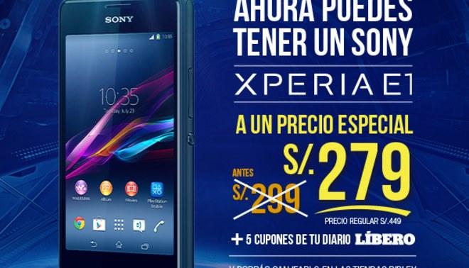Líbero te pone el Smartphone y trae el Sony Xperia E1 a un súper precio