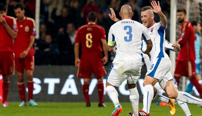 """Eslovaquia vs. España: """"Furia Roja"""" cayó 2-1 y perdió liderato de su grupo"""