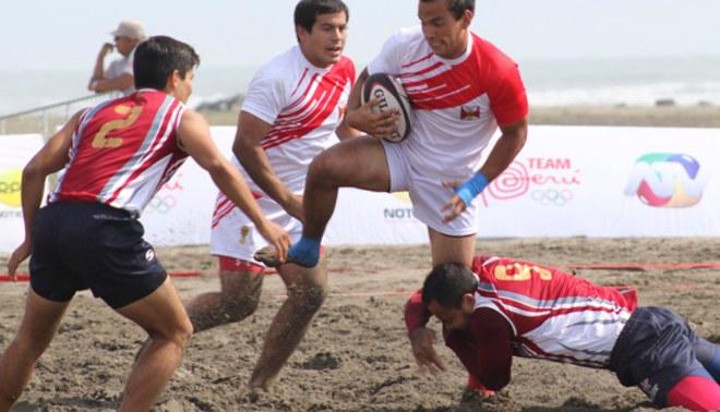 Juegos Bolivarianos 2014: Perú avanza firme en Rugby Playa [FOTOS]