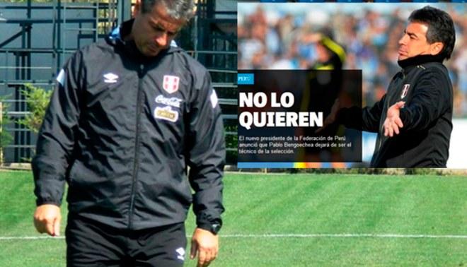 Pablo Bengoechea: Prensa uruguaya informó sobre su salida de Selección Peruana [FOTOS]