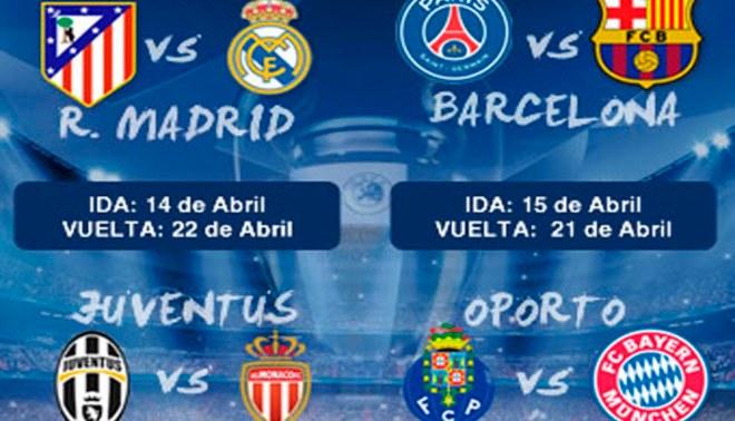 Champions League: así quedaron los cuartos de final del torneo europeo