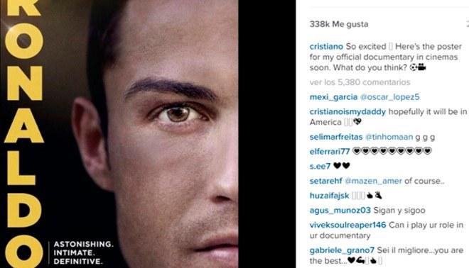Cristiano Ronaldo lanza primer cartel de su documental