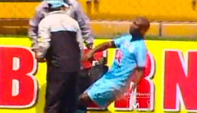 Real Garcilaso vs. Sport Huancayo: Jhoel Herrera sufrió desmayo en pleno partido [VIDEO]