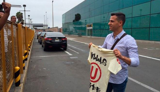 Universitario: Diego Guastavino llegó a Lima y por la tarde será presentado [FOTOS/VIDEO]