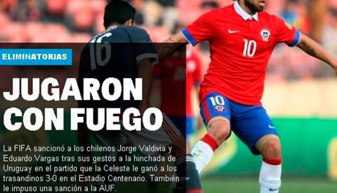 Chile: prensa de Uruguay festeja sanción de la FIFA a los 'Mapochos' [VIDEO]