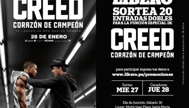 """Conoce a los ganadores de las entradas dobles de """"CREED: Corazón de campeón"""""""