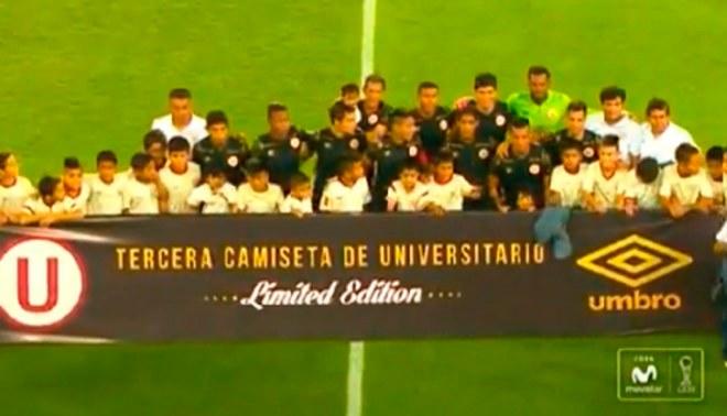 Universitario vs. Comerciantes Unidos: 'Cremas' presentaron oficialmente su camiseta negra  VIDEO