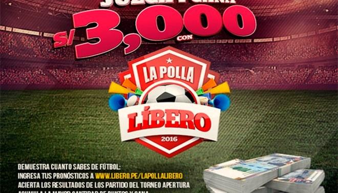 """Juega ya """"La Polla Líbero"""" acierta a los resultados del torneo apertura y gana premios en efectivo"""