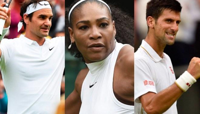 Wimbledon 2016: Federer y Serena avanzaron; Djokovic, a la espera   Resultados Generales