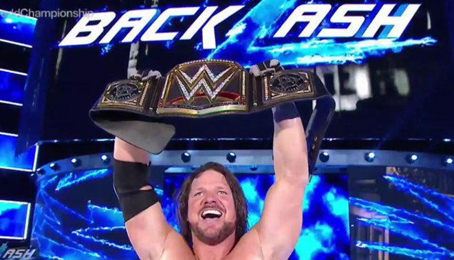 ¡AJ Styles se corona nuevo WWE Champion en Backlash 2016! Derrotó a Dean Ambrose | FOTOS