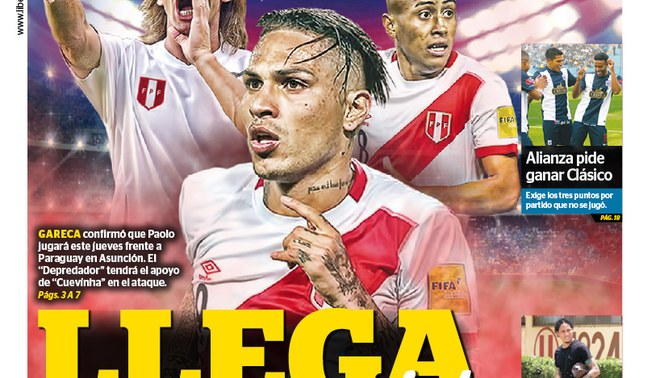 LÍBERO: mira la portada del martes 08 de noviembre del 2016