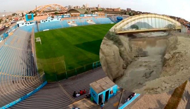 Sporting Cristal: ¿ Estadio de Sporting Cristal en peligro por desborde del río Rímac? |VIDEO