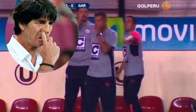 Universitario: ¿José 'Puma' Carranza imitó a Joachim Löw con este gesto? |VIDEO