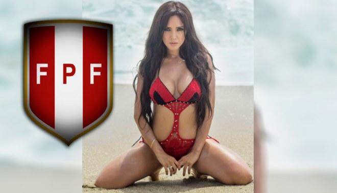 ¡DE INFARTO! Rosangela Espinoza sorprende con diminuto bikini alentando a la Selección Peruana |FOTOS /VIDEO