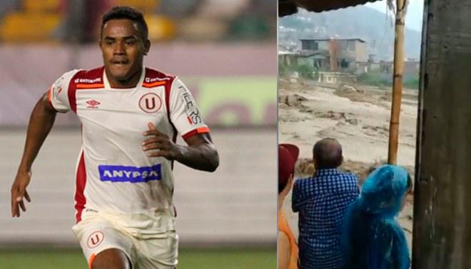 Universitario: Jersson Vásquez grabó momento preciso de caída de huaico en Chosica