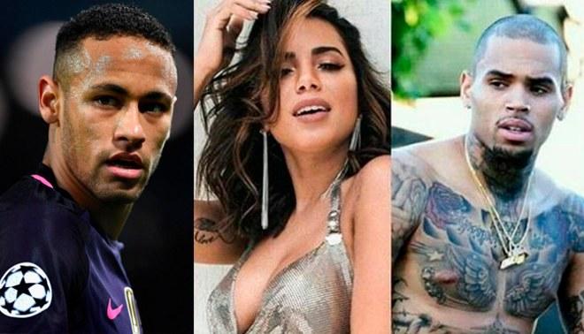 Neymar 'llama la atención' a Chris Brown por seguir a su novia Bruna Marquezine en Instagram