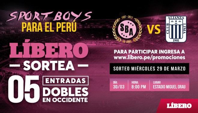 Sport Boys vs Alianza Lima: Sorteamos 5 entradas dobles occidente, se jugará el 30 de marzo