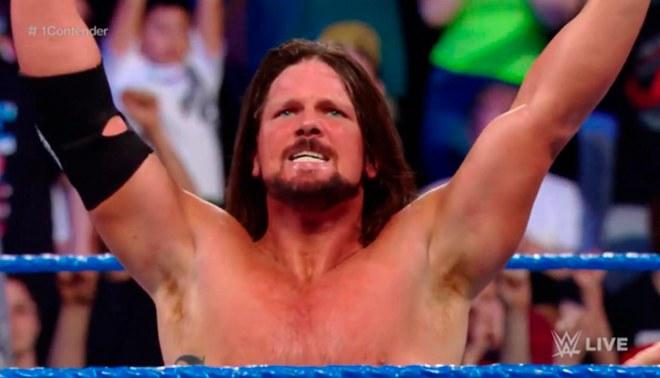 19970810fd WWE SmackDown Live  AJ Styles es el retador N° 1 por el campeonato ...