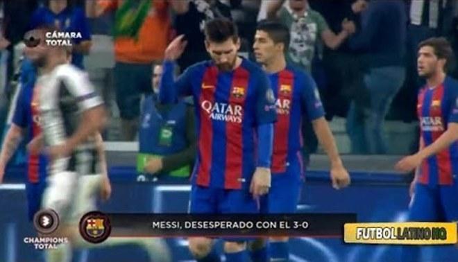 Barcelona: Lionel Messi se enoja con sus compañeros por goles de la Juventus [VIDEO]