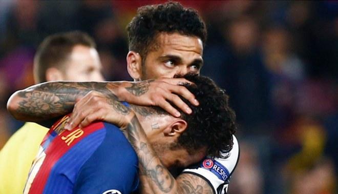 Juventus: Dani Alves y su conmovedor mensaje en Instagram a Neymar tras eliminación del Barcelona
